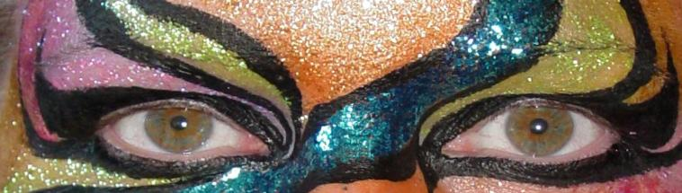 Carnival eyes face painting