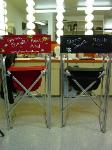 Shannon Fennell's make-up chairs