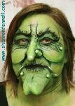 Special effects make-up green witch